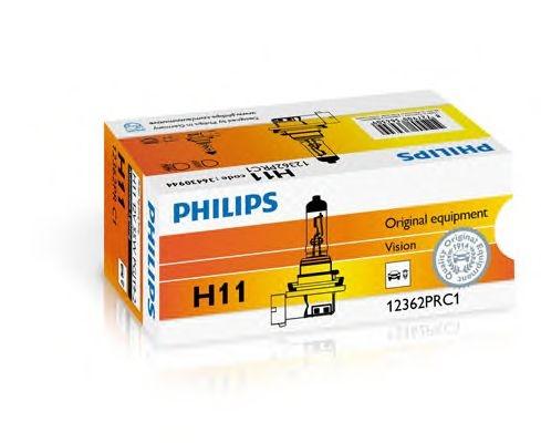 Bec auto halogen pentru far Philips Vision H11 55W 12V 12362PRC1