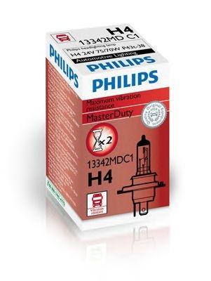 Bec auto halogen pentru far Philips Master Duty H4 75/70W 24V cutie 13342MDC1