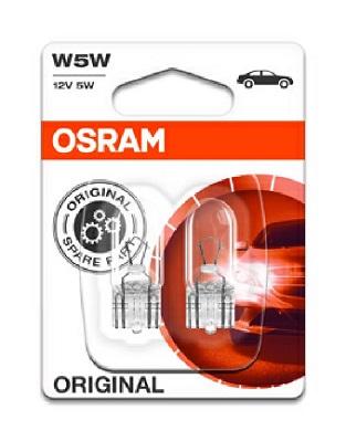 Set 2 becuri auto halogen Osram Original W5W 5W 12V 2825-02B