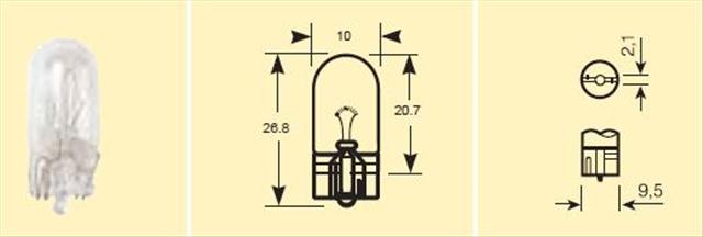 Bec auto led Ring W5W 5W 12V RB501