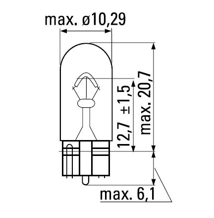 Bec auto halogen Bosch Eco W5W 5W 12V 1 987 302 819