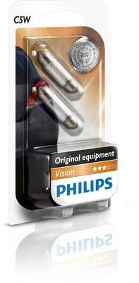 Set 2 becuri halogen Philips Vision C5W 5W 12V 12844B2
