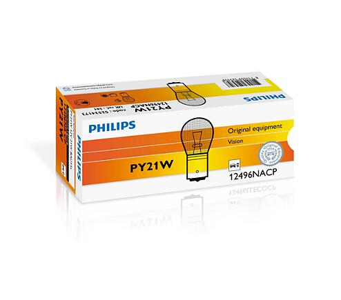 Bec auto halogen Philips Vision PY21W 21W 12V 12496NACP