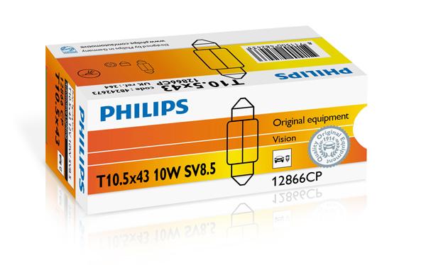 Bec auto halogen Philips Vision C10W-Festoon 10W 12V 12866CP