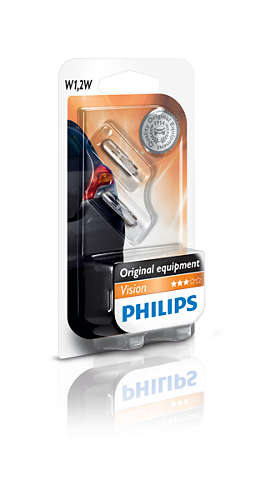 Set 2 becuri auto halogen Philips Vision W1,2W 1,2W 12V 12516B2