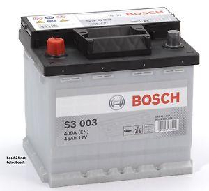Baterie auto Bosch S3 45Ah 12V 0092S30030