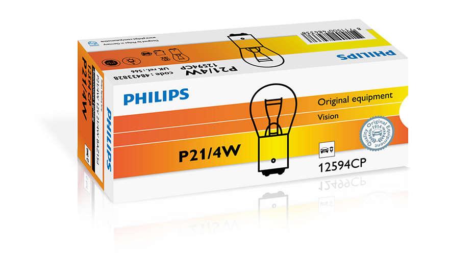 Bec auto halogen Philips Vision P21/4W 21/4W 12V 12594CP