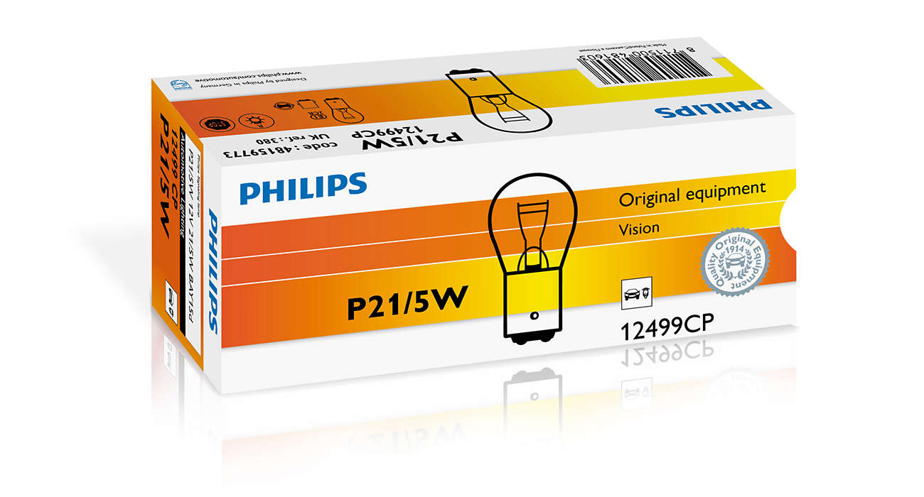 Bec auto halogen Philips Vision P21/5W 21/5W 12V 12499CP