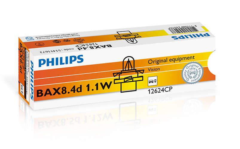 Bec auto halogen Philips Vision BAX orange 1,1W 12V 12624CP