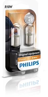 Set 2 becuri auto halogen Philips Vision R10W 10W 12V 12814B2