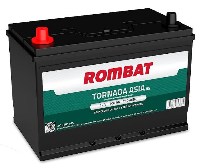 Baterie Rombat TORNADA ASIA 100AH 750A 12V 60036H1075