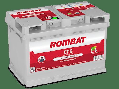 Baterie auto Rombat EFB Start-Stop 70AH 650A 12V 5701130065
