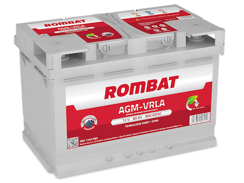 Baterie auto Rombat AGM Start-Stop 80AH 800A 12V 5801240080
