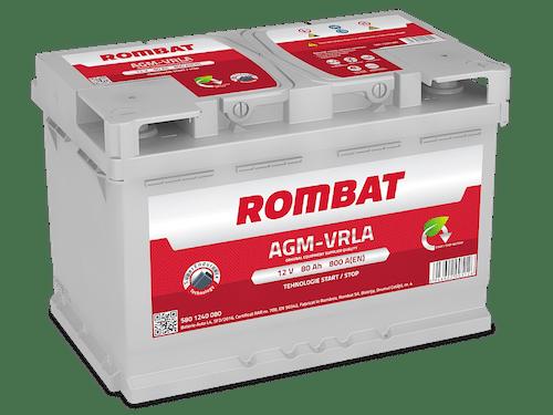 Baterie auto Rombat AGM Start-Stop 80AH 800A 12V 5801240080