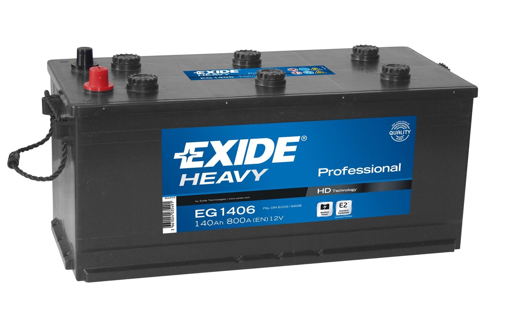 Baterie camion Exide Heavy Professional 140Ah 12V EG1406