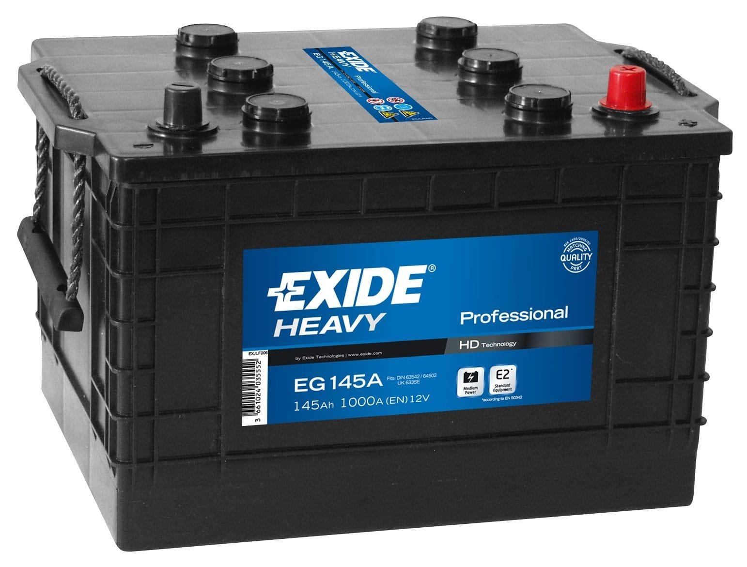 Baterie camion Exide Heavy Professional 145Ah 12V EG145A