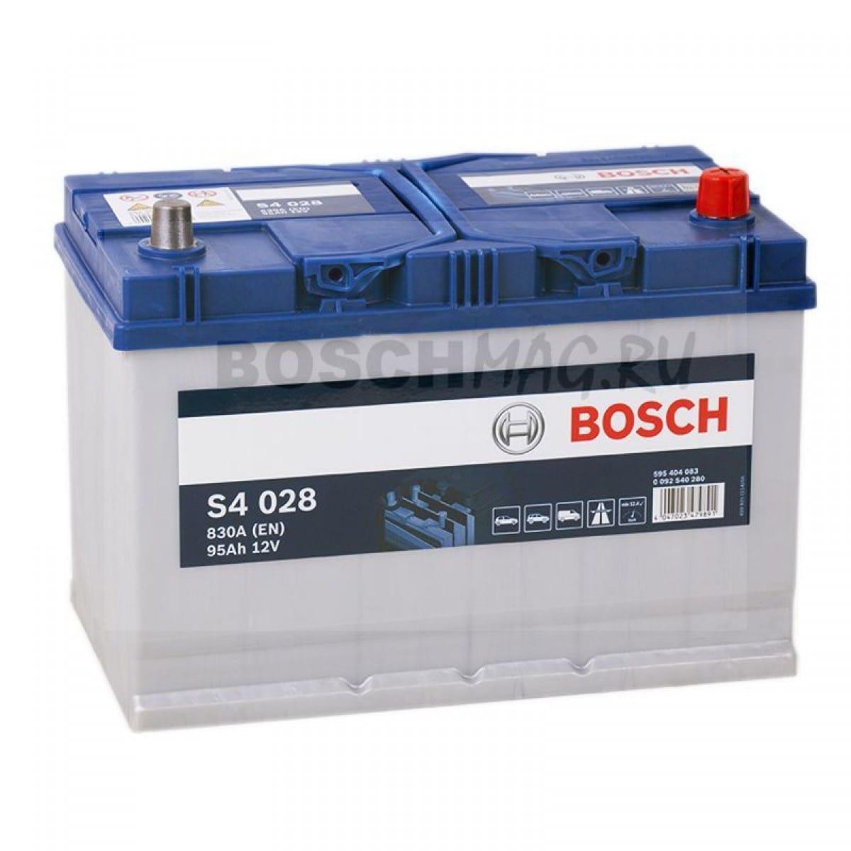 Baterie auto Bosch S4 95Ah 12V 0092S40280