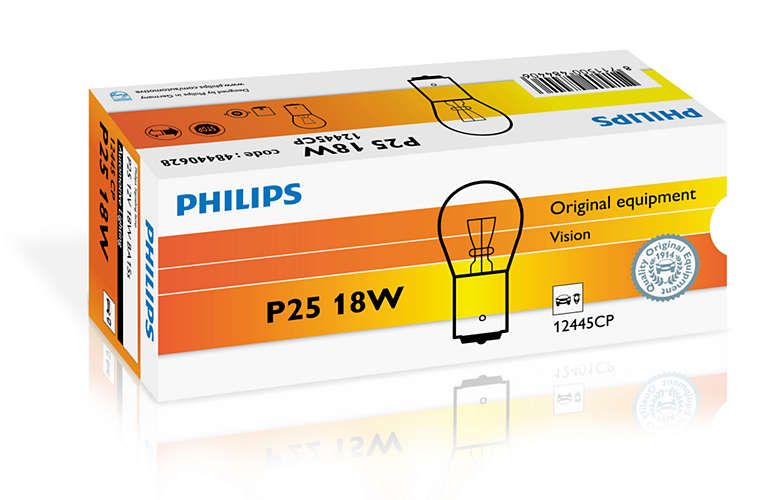Bec auto halogen Philips Vision Stop P25 18W 12V 12445CP