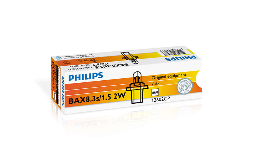 Bec auto halogen Philips Vision BAX blue 2W 12V 12602CP