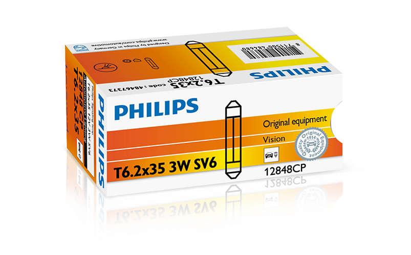 Bec auto halogen Philips Vision C3W-Festoon 3W 12V 12848CP