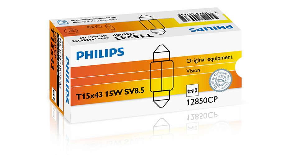 Bec auto halogen Philips Vision C15W-Festoon 15W 12V 12850CP