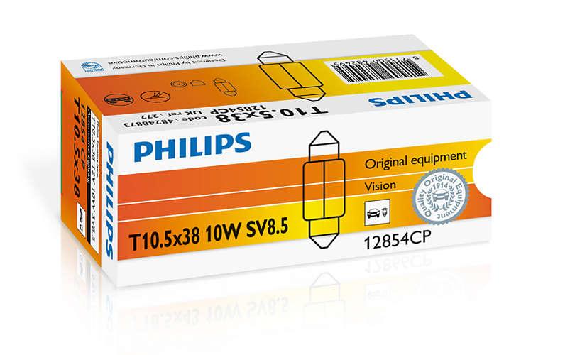 Bec auto halogen Philips Vision C10W-Festoon 10W 12V 12854CP