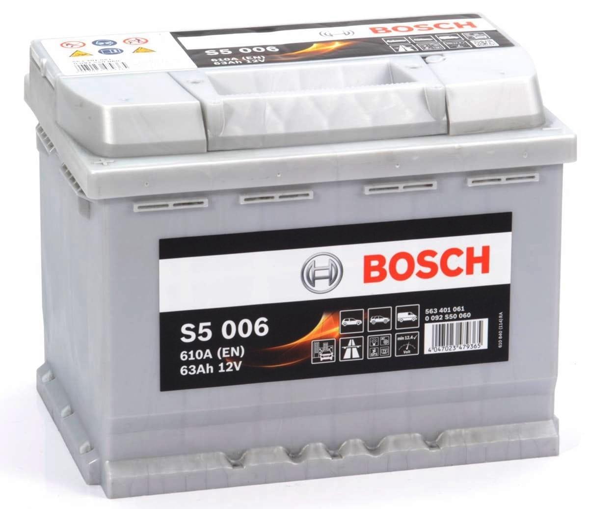 Baterie auto Bosch S5 63Ah 12V 0092S50060