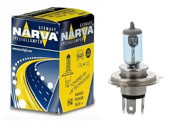 Bec auto halogen pentru far Narva Range Power Blue+ H4 60/55W 12V 48677N