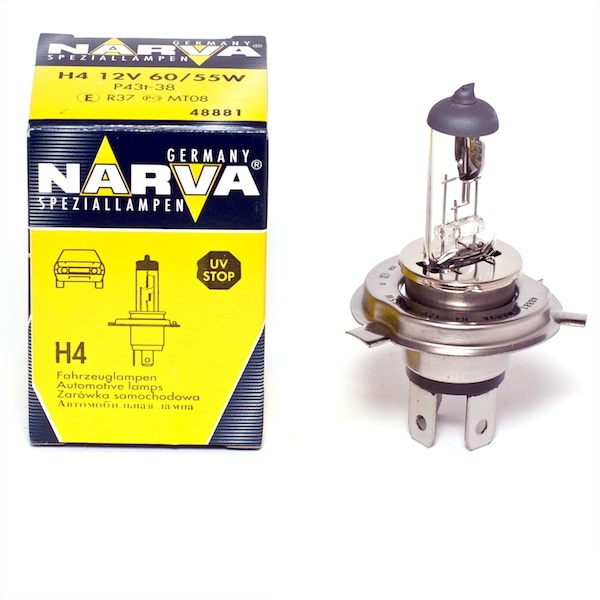 Bec auto halogen pentru far Narva Range Power 50+ H4 60/55W 12V 48861
