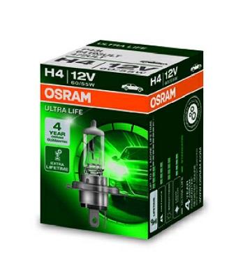 Bec auto halogen pentru far Osram Ultra Life H4 60/55W 12V 64193ULT