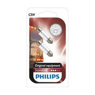 Set 2 becuri auto halogen Philips Original C5W 5W 24V 13844B2