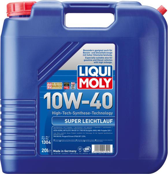 Ulei motor Liqui Moly MOS2 Leichtlauf 10W40 20L