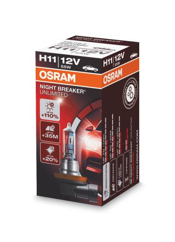 Bec auto halogen pentru far Osram Night Breaker Unlimited H11 55W 12V