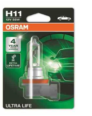 Bec auto halogen pentru far Osram Ultra Life H11 55W 12V
