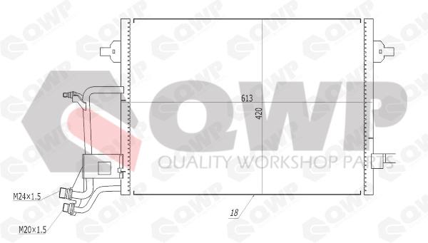 Condensator, climatizare QWP WAC140