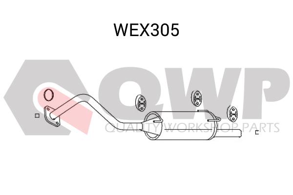 Toba esapament finala QWP WEX305