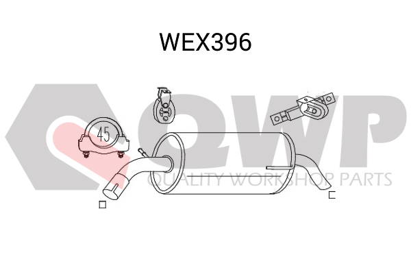 Toba esapament finala QWP WEX396