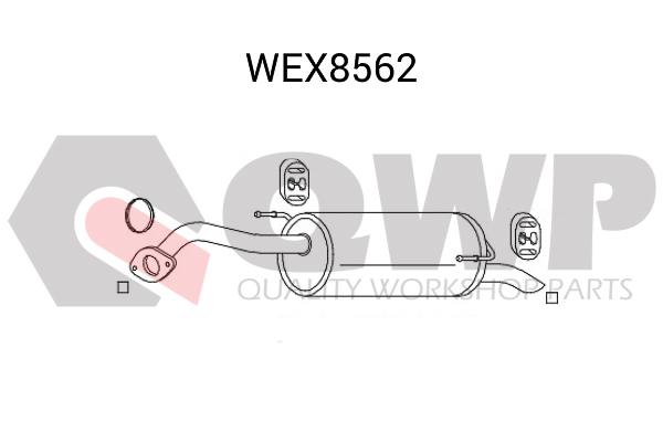 Toba esapament finala QWP WEX8562