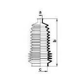 Burduf cauciuc, directie RENAULT Symbol  (LB0/1/2_) 1.6 16V (79KW / 107CP)SPIDAN 83864
