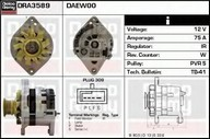Generator/alternator DELCO REMY DRA3589