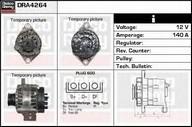 Generator/alternator DELCO REMY DRA4264