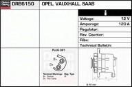 Generator/alternator DELCO REMY DRB6150