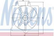 Ventilator, aer conditionat NISSENS 85282