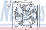 Ventilator, aer conditionat NISSENS 85382
