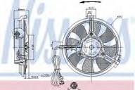 Ventilator, aer conditionat NISSENS 85519