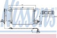 Condensator, climatizare NISSENS 94684