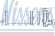 Schimbator caldura, incalzire habitaclu NISSENS 72941
