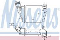 Intercooler, compresor NISSENS 96410