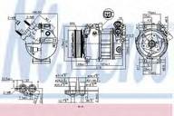 Compresor, climatizare NISSENS 890125