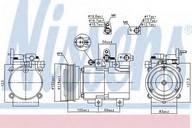 Compresor, climatizare NISSENS 890130